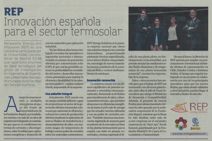 innovación española en el sector termosolar